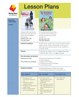 Lesson Plan - Working In the Wild | The Goodmans Go Camping