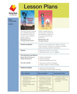 Lesson Plan - Electric Wind: The Story of William Kankwamba | Marvellous Maddie