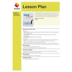 Lesson Plan - Animal Parents